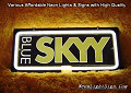 MILLER BEER SKYY BLUE 3D Beer Bar Neon Light Sign