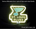 NHL St. Louis Blues Hockey3D Beer Bar Neon Light Sign