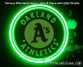MLB Oakland Athletics 3D Beer Bar Neon Light Sign