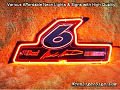 NASCAR #6 MARK MARTIN 3D Beer Bar Neon Light Sign