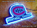 NHL Montreal Canadiens 3D Beer Bar Neon Light Sign