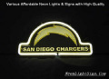 NFL San Diego Chargers 3D Beer Bar Neon Light Sign