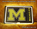 NCAA MICHIGAN WOLVERINES 3D Beer Bar Neon Light Sign