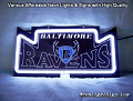 NFL BALTIMORE RAVENS 3D Beer Bar Neon Light Sign