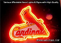 MLB ST LOUIS CARDINALS 3D Beer Bar Neon Light Sign
