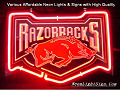 NCAA UNIVERSITY OF ARKANSAS RAZORBACKS 3D Beer Bar Neon Light Sign