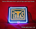 NCAA University of TEXAS Longhorns 3D Beer Bar Neon Light Sign