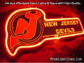 MLB Jersey Devils Hockey 3D Beer Bar Neon Light Sign