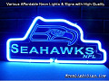 NFL SEATTLE SEAHAWKS 3D Beer Bar Neon Light Sign