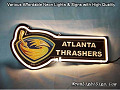 NHL Atlanta Thrashers 3D Beer Bar Neon Light Sign