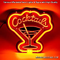 Cocktails 3D Beer Bar Neon Light Sign