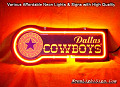 NFL Dallas Cowboys 3D Beer Bar Neon Light Sign