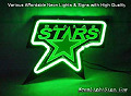 NHL Dallas Stars Hockey 3D Beer Bar Neon Light Sign