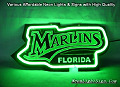 MLB MARLINS FLORIDA 3D Beer Bar Neon Light Sign