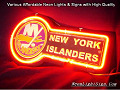 NHL New York Islanders 3D Beer Bar Neon Light Sign
