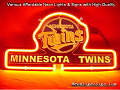 MLB MINNESOTA TWINS 3D Beer Bar Neon Light Sign