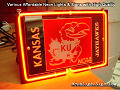 NCAA KU Kansas Jayhawks 3D Beer Bar Neon Light Sign