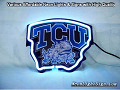 NCAA Texas Christian University TCU 3D Beer Bar Neon Light Sign