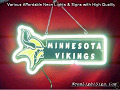 NFL MINNESOTA VIKINGS 3D Beer Bar Neon Light Sign