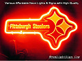 NFL PITTSBURGH STEELERS 3D Beer Bar Neon Light Sign