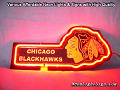 NHL CHICAGO BLACKHAWKS 3D Beer Bar Neon Light Sign