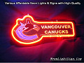 NHL VANCOUVER CANUCKS 3D Beer Bar Neon Light Sign