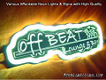 OFF BEAT LOUNGE 3D Beer Bar Neon Light Sign