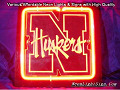 NCAA NEBRASKA CORNHUSKERS 3D Beer Bar Neon Light Sign
