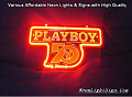 play boy 50th Years 3D Beer Bar Neon Light Sign