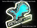 NFL DETROIT LIONS 3D Beer Bar Neon Light Sign