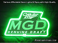 Miller MGD 3D Beer Bar Neon Light Sign