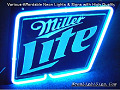MILLER LITE 3D Beer Bar Neon Light Sign