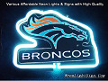 NFL Denver Bronco 3D Beer Bar Neon Light Sign