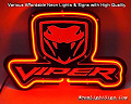 VIPER SRT-10 LOGO 3D Beer Bar Neon Light Sign