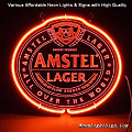 Amstel Lager 3D Beer Bar Neon Light Sign